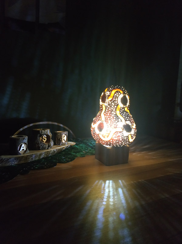 su kabağı ışıklı dekoratif led gece tasarım model lambalar