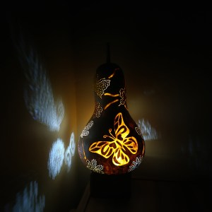 otantik su kabağı gece lambası