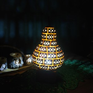 otantik led ışıklı gece lambası