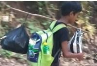 Demi Ujian Sekolah, Bocah Di Bali Berjalan 3 Jam Hanya Berbekal Jagung