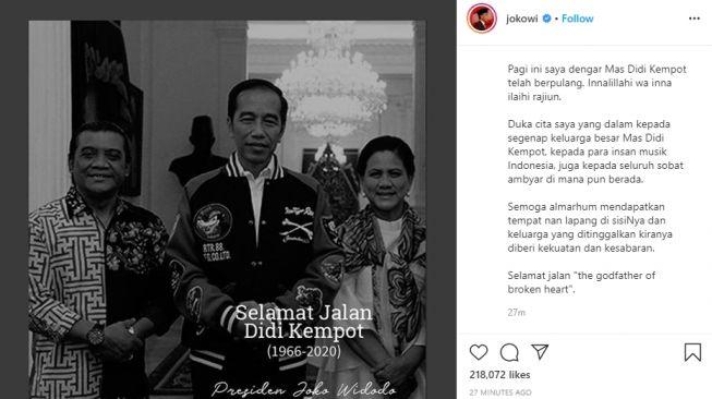 Didi Kempot Meninggal Presiden Sampaikan Duka Cita Untuk Seluruh