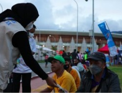 Dua juta Masker Dibagikan Satgas Prokes Selama Perhelatan PON XX Papua