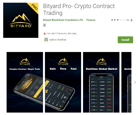 Bityard Pro- Crypto Contract Trading