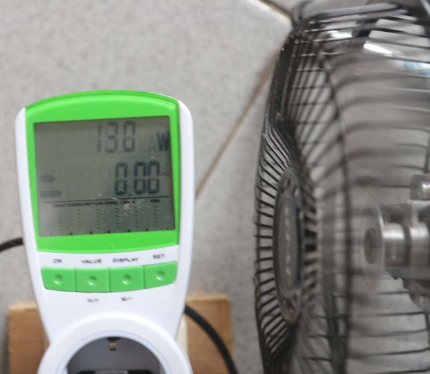 Pengukuran daya kecepatan tinggi pada 206 volt
