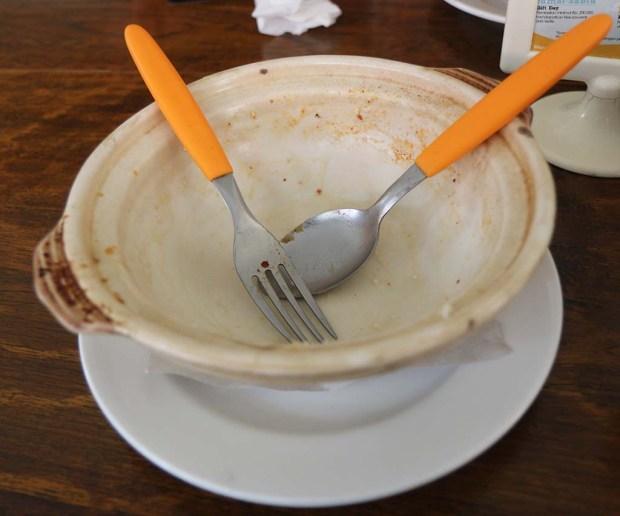 Spaghetti yang sudah habis