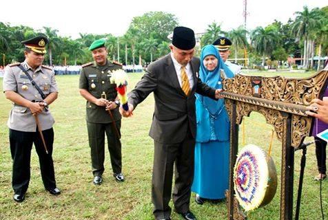 Pembukaan Pencanangan BBGRM XI di Lapangan Imam Bonjol, Kota Padang. FOTO/IST