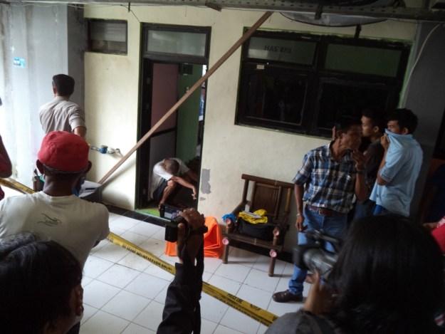 Suasana di lokasi kejadian di Rusunawa, kawasan Danau Campago, Pantai Purus, Kota Padang. Foto : Ikhwan