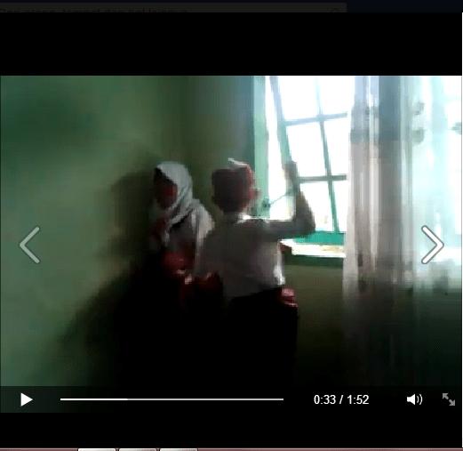 Capture Video Diduga Pemukulan Siswi SD oleh rekannya. Foto : Istimewa