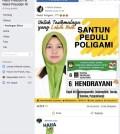 [SALAH] Foto Banner Caleg PKS Bernama Hendrayani Bertuliskan Santun, Peduli, Poligami