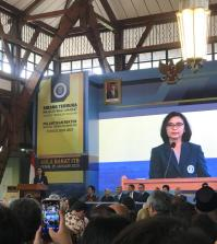 Prof Reini Djuhraeni Wirahadikusumah MSCE, Ph.D. resmi dilantik menjadi rektor Institut Teknologi Bandung (ITB) 2020-2025, Senin (20/1/2020).