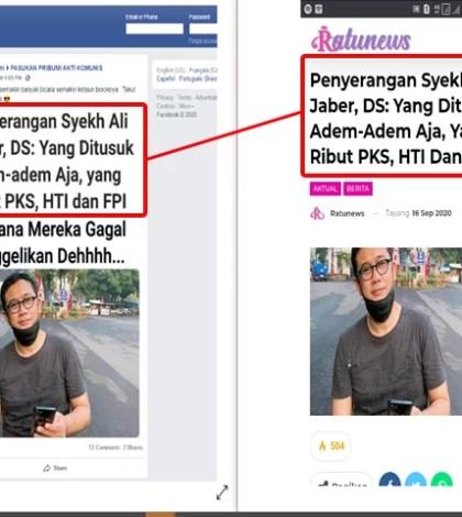 """[SALAH] """"Penyerangan Syekh Ali Jaber, DS: Yang Ditusuk Adem-adem Aja, yang Ribut PKS, HTI dan Fpi Rencana mereka Gagal Menggelikan Dehhhh…"""""""