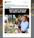 "[SALAH] ""Jakarta Hampir Tenggelam Anis Malah Sibuk Makan"""