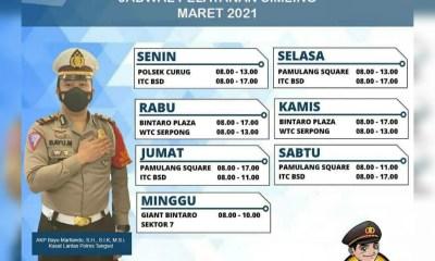Jadwal SIM Keliling Tangerang Selatan Maret 2021