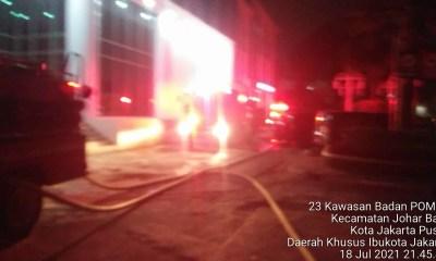 Gambar Kebakaran di Kantor BPOM RI Johar Baru Jakarta Pusat