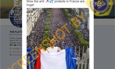 [SALAH] Foto Suasana Demo Anti-Vaksin di Prancis