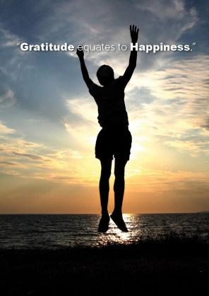 Gratitude equates to...