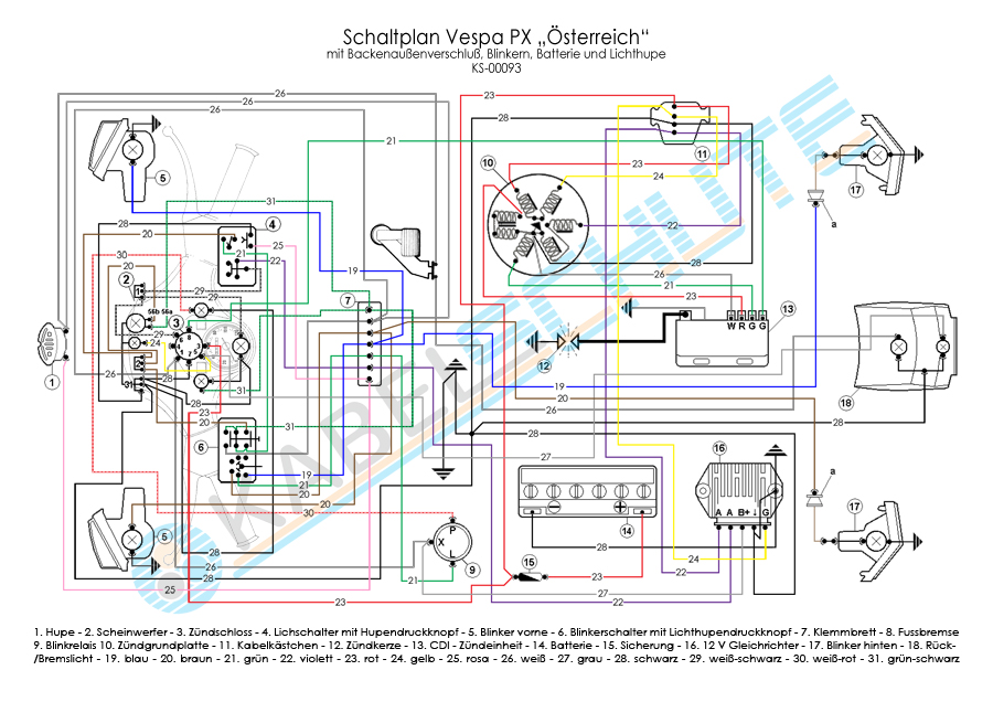 Swell Wiring Diagram Vespa Px 150 Basic Electronics Wiring Diagram Geral Blikvitt Wiring Digital Resources Geralblikvittorg