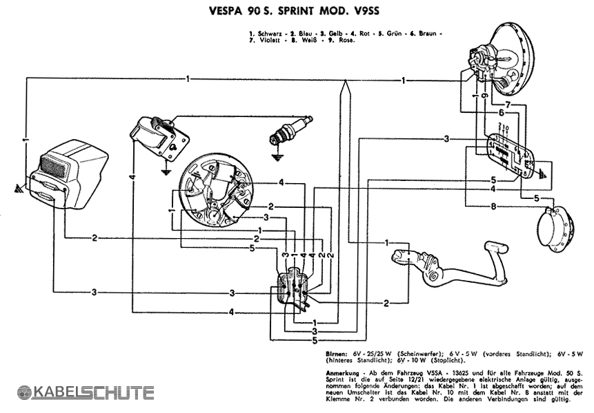 Wiring Diagram Vespa Super