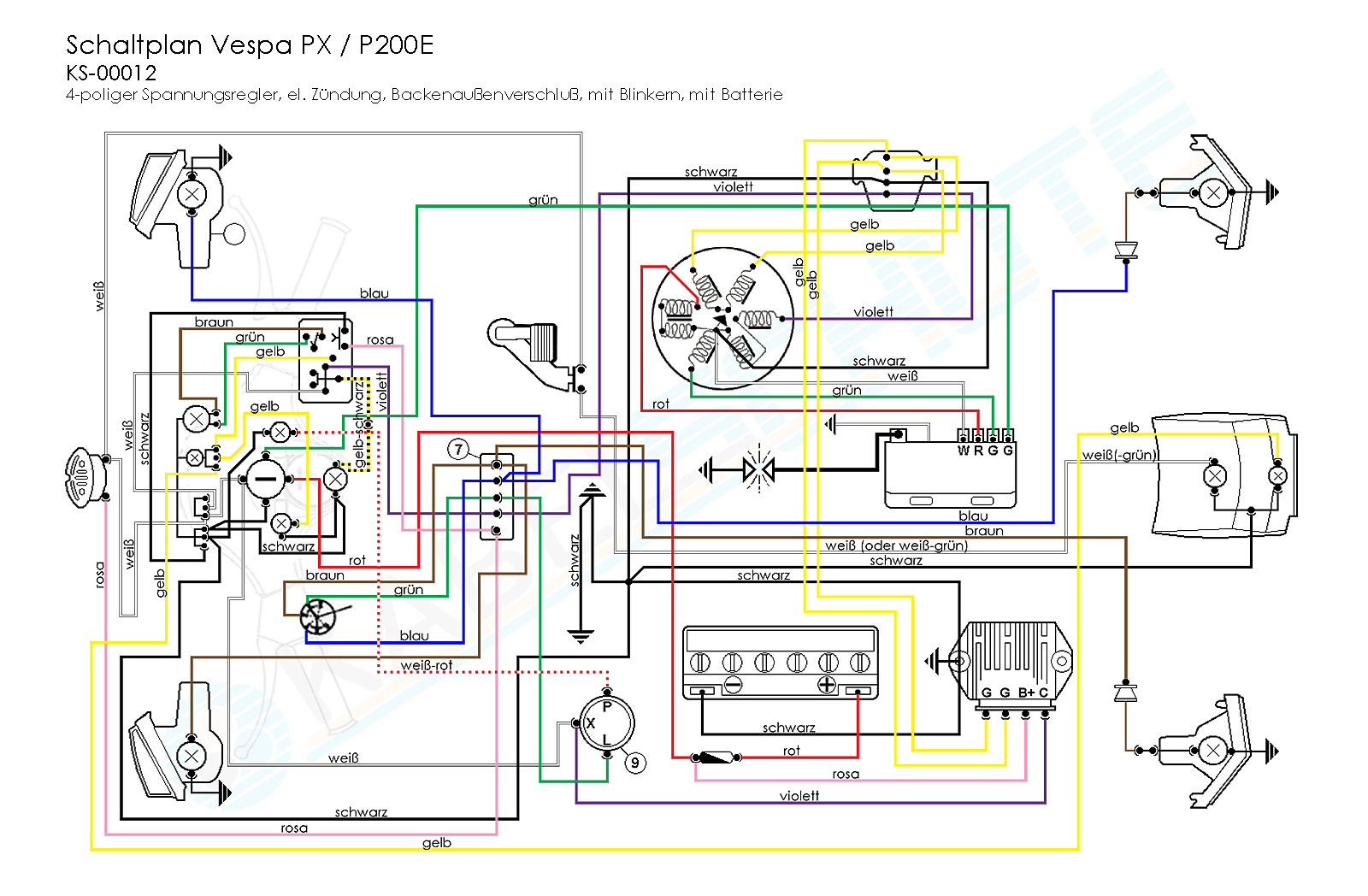 KS 00012_Schaltplan VSX1T_Vespa_PX vespa px wiring diagram vespa px 150 wiring diagram at bakdesigns.co