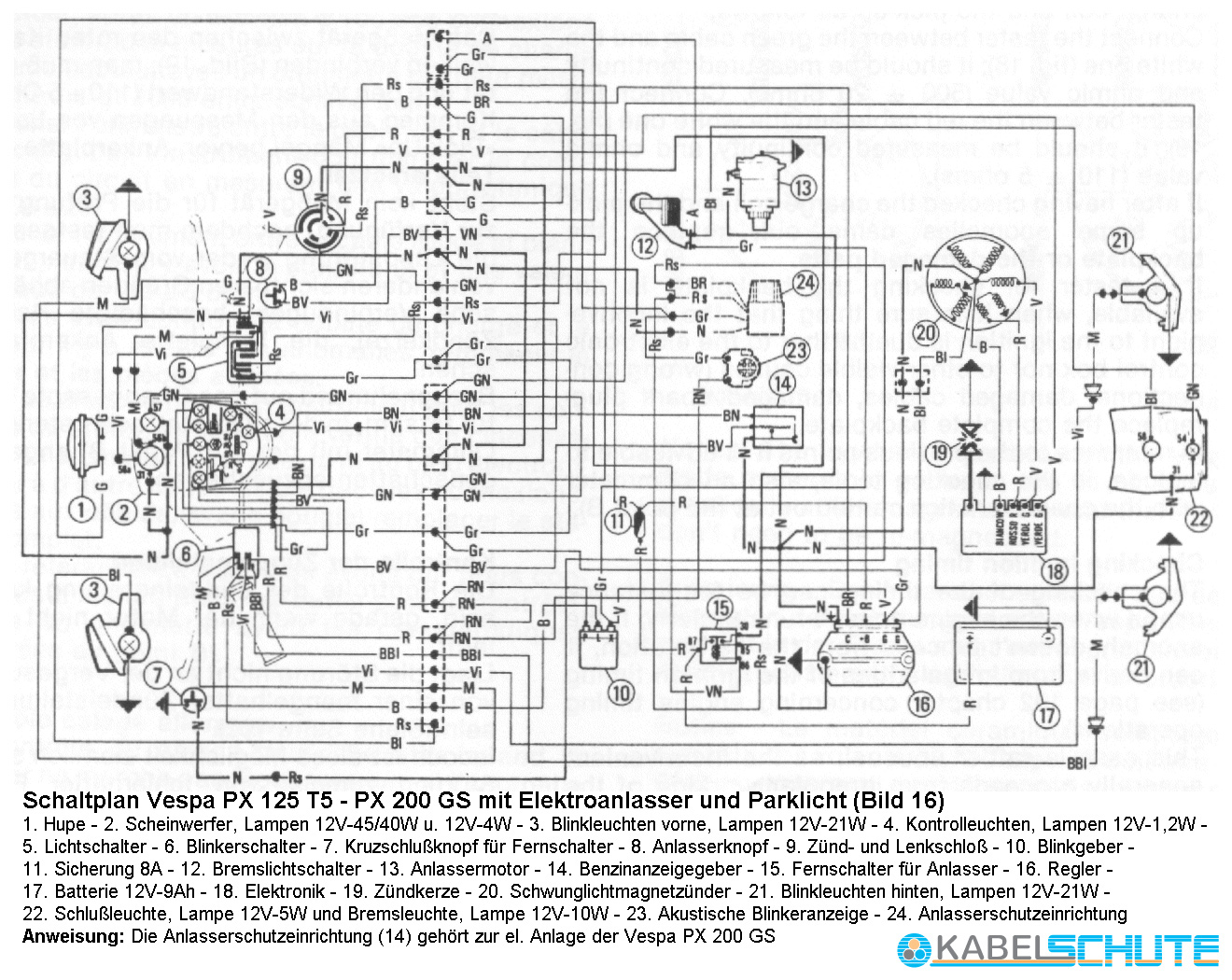 lambretta wiring diagram yamaha grizzly 600 carburetor vespa px 200 27 images