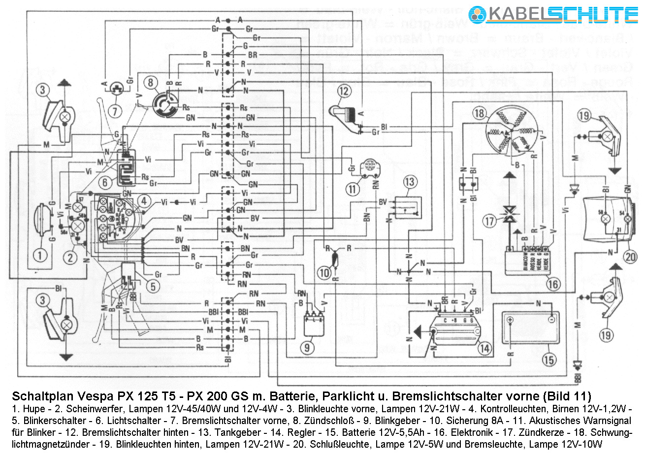 hight resolution of vespa px 200 wiring diagram 27 wiring diagram images wiring diagram vespa 50 special wiring diagram vespa px 200