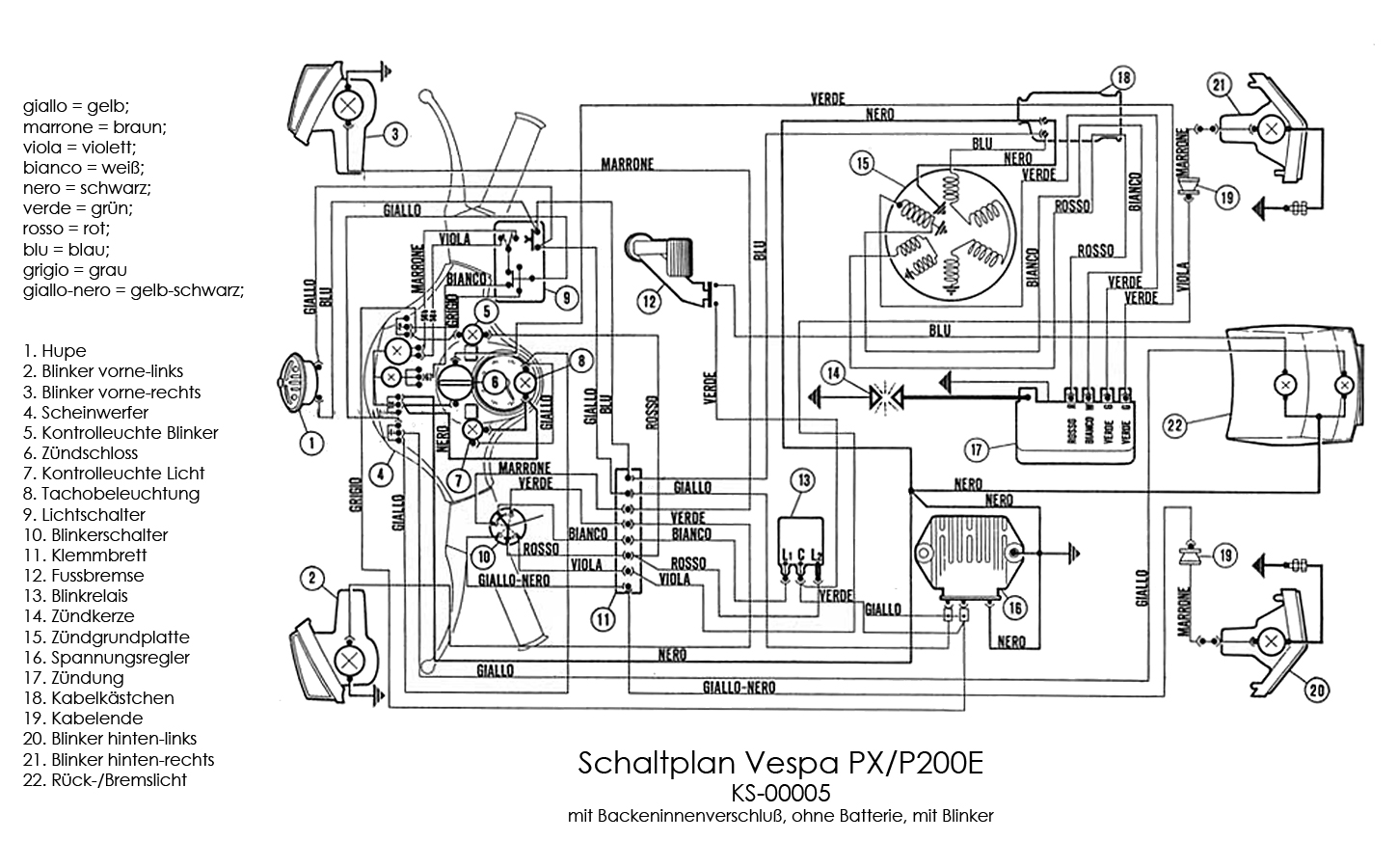 Vespa Px Wiring Diagram : 23 Wiring Diagram Images