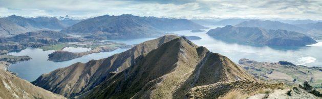Ausblick vom Sattel des Roy's Peak