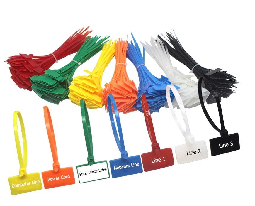 Wraplabels in verschillende kleuren verkrijgbaar
