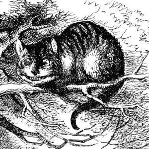 Dibujo de el Gato de Cheshire