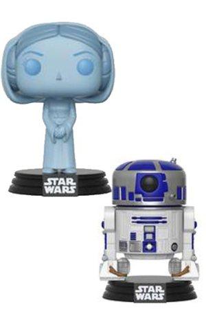 Funko Pop Pack Princesa Leia Holografica y R2-D2 SDCC 2017