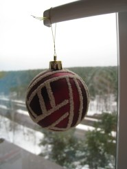 шарик, декорированный манкой