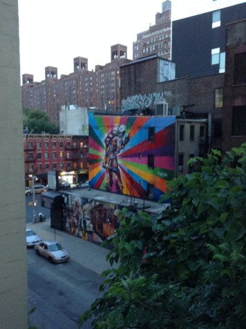 Street Graffiti viewed from the High Line
