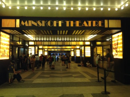 The Legendary Minskoff Theatre !!