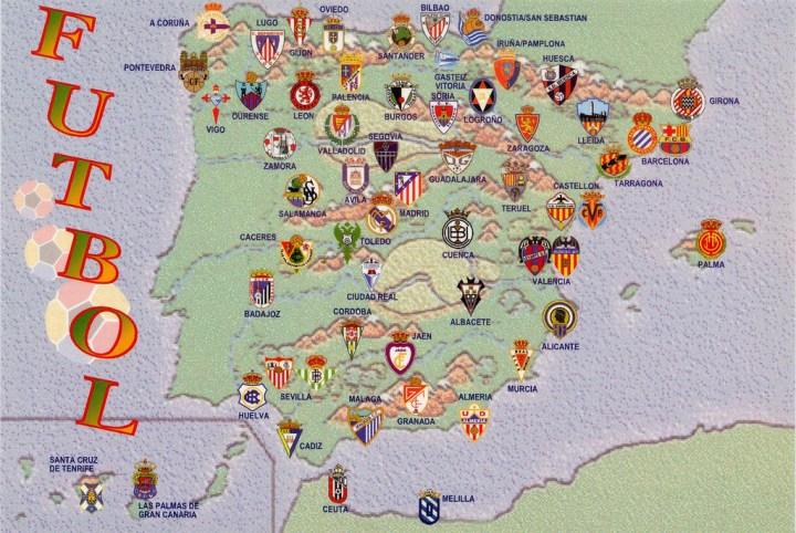 Spain Football Map