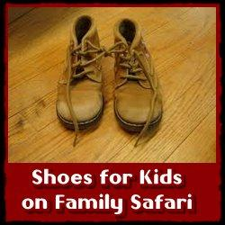 The right Clothing - Shoes - Hat for Children on a Family Safari