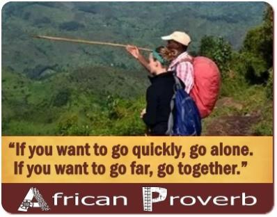 African Proverbs come alive in Pictures and Words