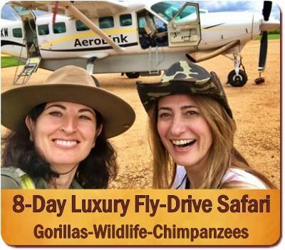 Luxury 8-Day Fly-In Gorilla-Chimpanzee-Wildlife Safari in Uganda