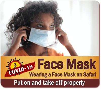 COVID-19 Protection: Wearing a Face Mask is required on a Safari in Uganda
