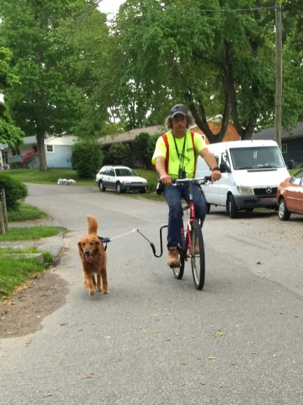 Biking with Summer during an introductory bike session with David.