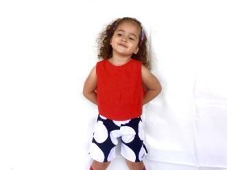 Monochrome spot shorts