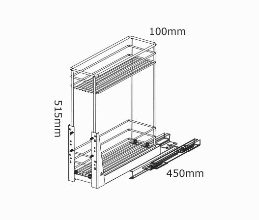 kitchen cabinet hardware trends high end kitchens 150mm pullout baskets 2 tier soft close | kaboodle