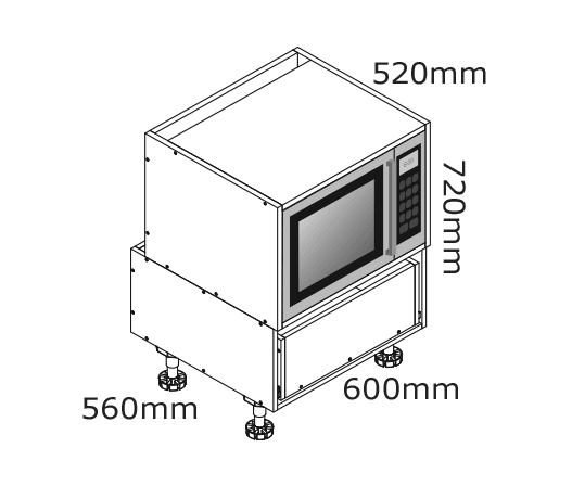 microwave for under bench kaboodle