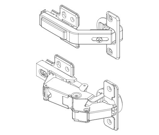 cabinet door diagram 6 way round to 4 flat wiring corner hinge pack kaboodle kitchen