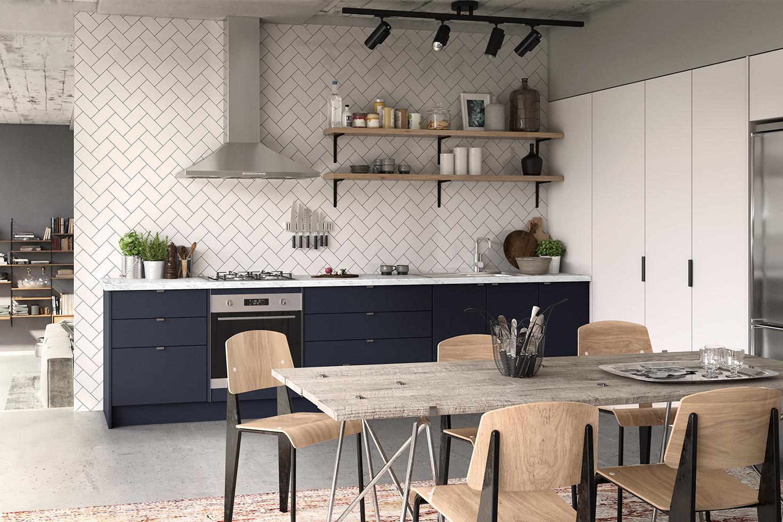 new trends kitchen colours  kaboodle kitchen