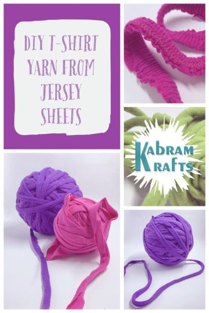 DIY T-shirt Yarn From Jersey Sheets