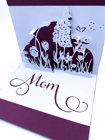 SVG Pop Up Template Cutting File Floral Sketch on Etsy