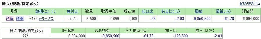 20190531_日本株SBI証券評価損益