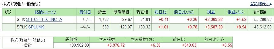 20190705_米国株SBI証券評価損益