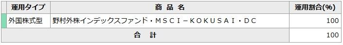 202004NISSAY401k_掛金