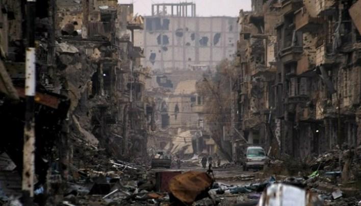 د سوریې دیر الزور ښار - جنوري، ۲۰۱۴ / (Ahmad Aboud/AFP)